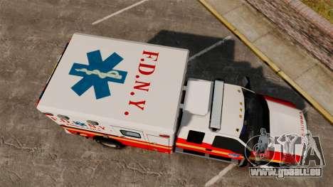 Ford F-350 2013 FDNY Ambulance [ELS] pour GTA 4 est un droit