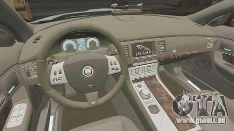Jaguar XFR 2010 Police Unmarked [ELS] für GTA 4 Innenansicht