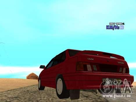 VAZ 2115 Taxi pour GTA San Andreas sur la vue arrière gauche
