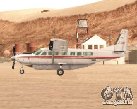 Cessna 208B Grand Caravan pour GTA San Andreas laissé vue