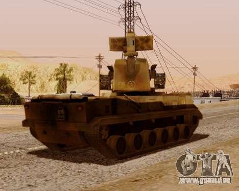 2S6 Tunguska für GTA San Andreas Rückansicht