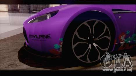 Aston Martin V12 Zagato 2012 [IVF] pour GTA San Andreas salon
