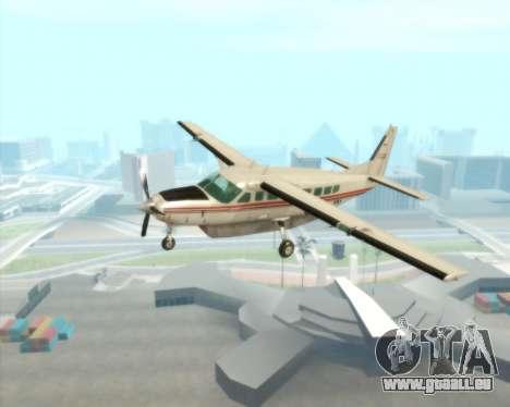 Cessna 208B Grand Caravan pour GTA San Andreas vue intérieure