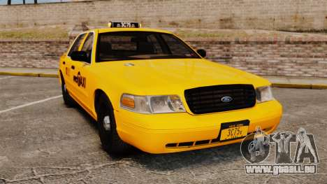 Ford Crown Victoria 1999 NYC Taxi pour GTA 4
