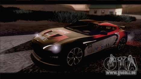 Aston Martin V12 Zagato 2012 [IVF] pour GTA San Andreas vue de côté