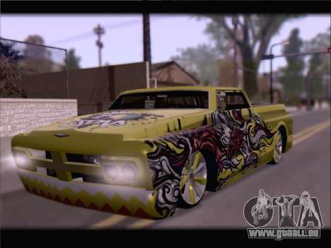 New Slamvan pour GTA San Andreas vue intérieure