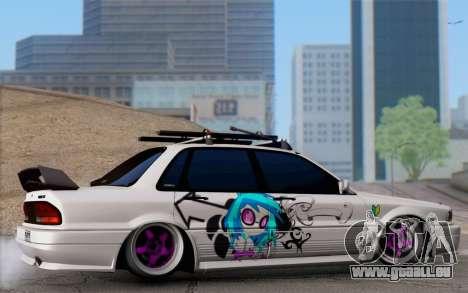 Mitsubishi Galant 1992 pour GTA San Andreas laissé vue