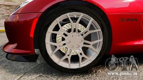 Dodge Viper SRT TA 2014 Rebuild für GTA 4 Rückansicht