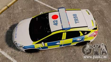 Ford Focus 2013 Uk Police [ELS] für GTA 4 rechte Ansicht