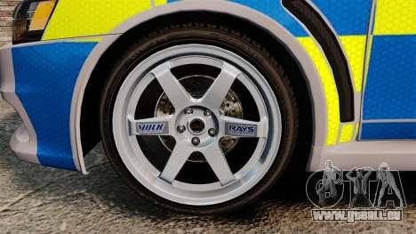 Mitsubishi Lancer Evolution X Police [ELS] pour GTA 4 Vue arrière