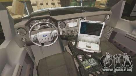 Ford F-550 2012 NYPD [ELS] für GTA 4 Rückansicht