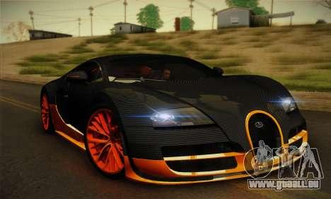 Bugatti Veyron Super Sport World Record Edition pour GTA San Andreas laissé vue