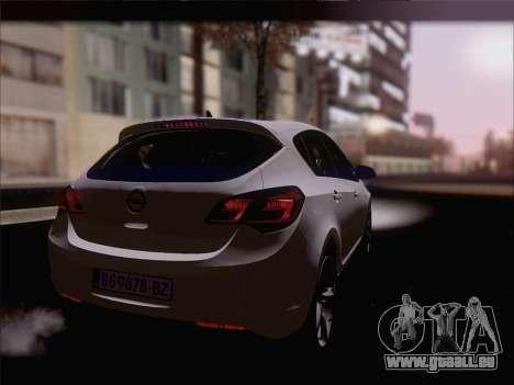 Opel Astra J 2011 pour GTA San Andreas laissé vue