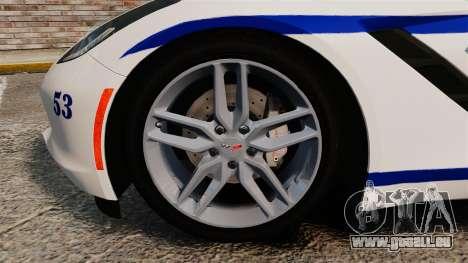 Chevrolet Corvette C7 Stingray 2014 Police pour GTA 4 est une vue de l'intérieur