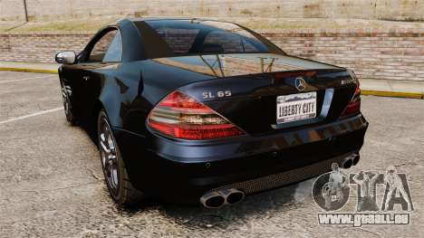 Mercedes-Benz SL65 AMG pour GTA 4 Vue arrière de la gauche