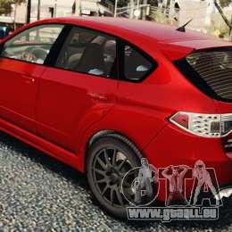 Subaru Impreza WRX STi 2010 pour GTA 4 est un droit