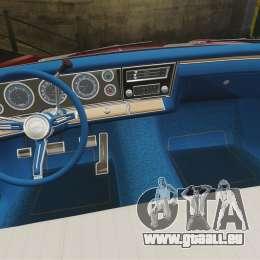 Chevrolet Impala 1967 pour GTA 4 est une vue de l'intérieur
