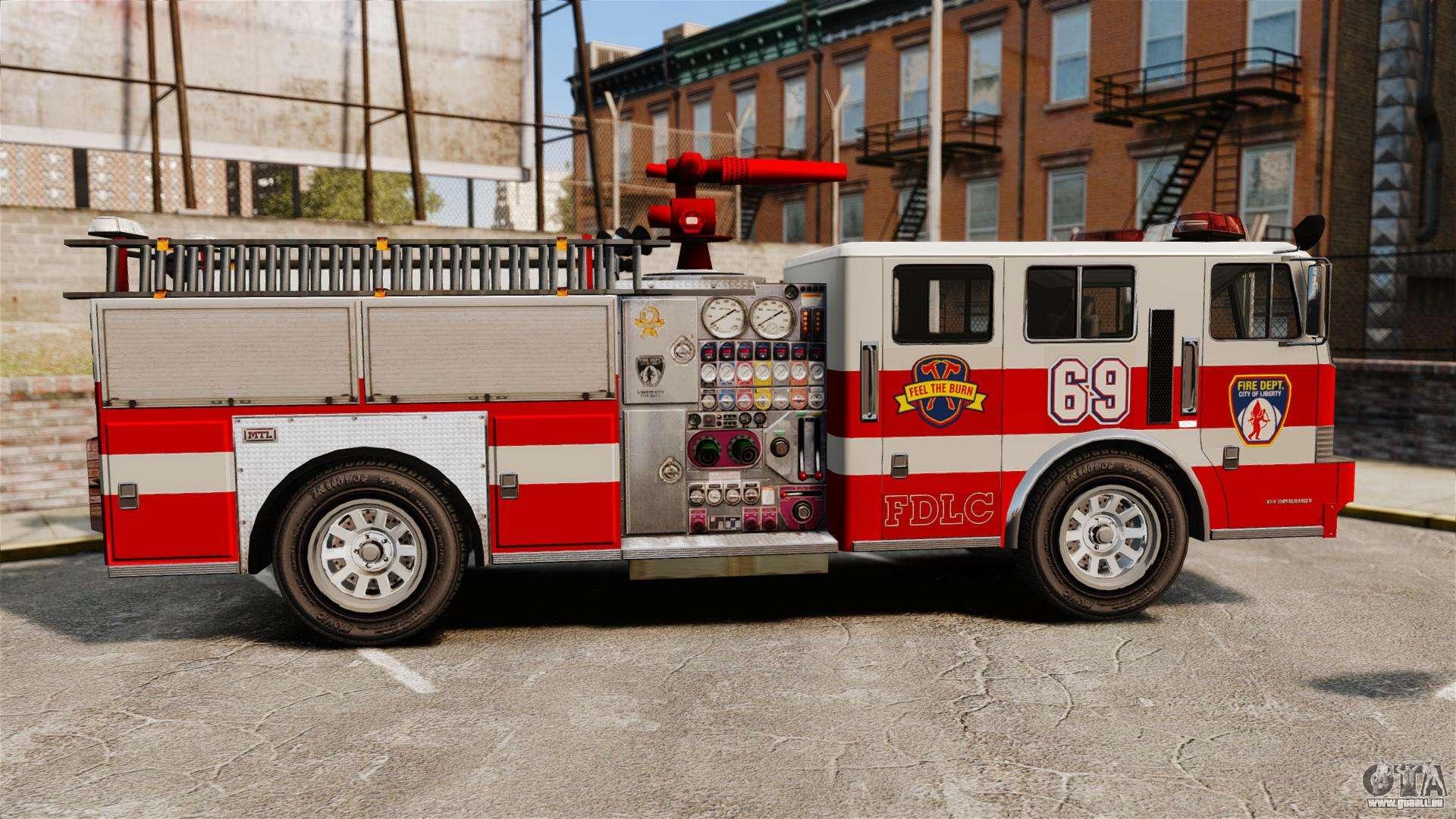 Camion de pompier pour gta 4 - Camion pompier cars ...