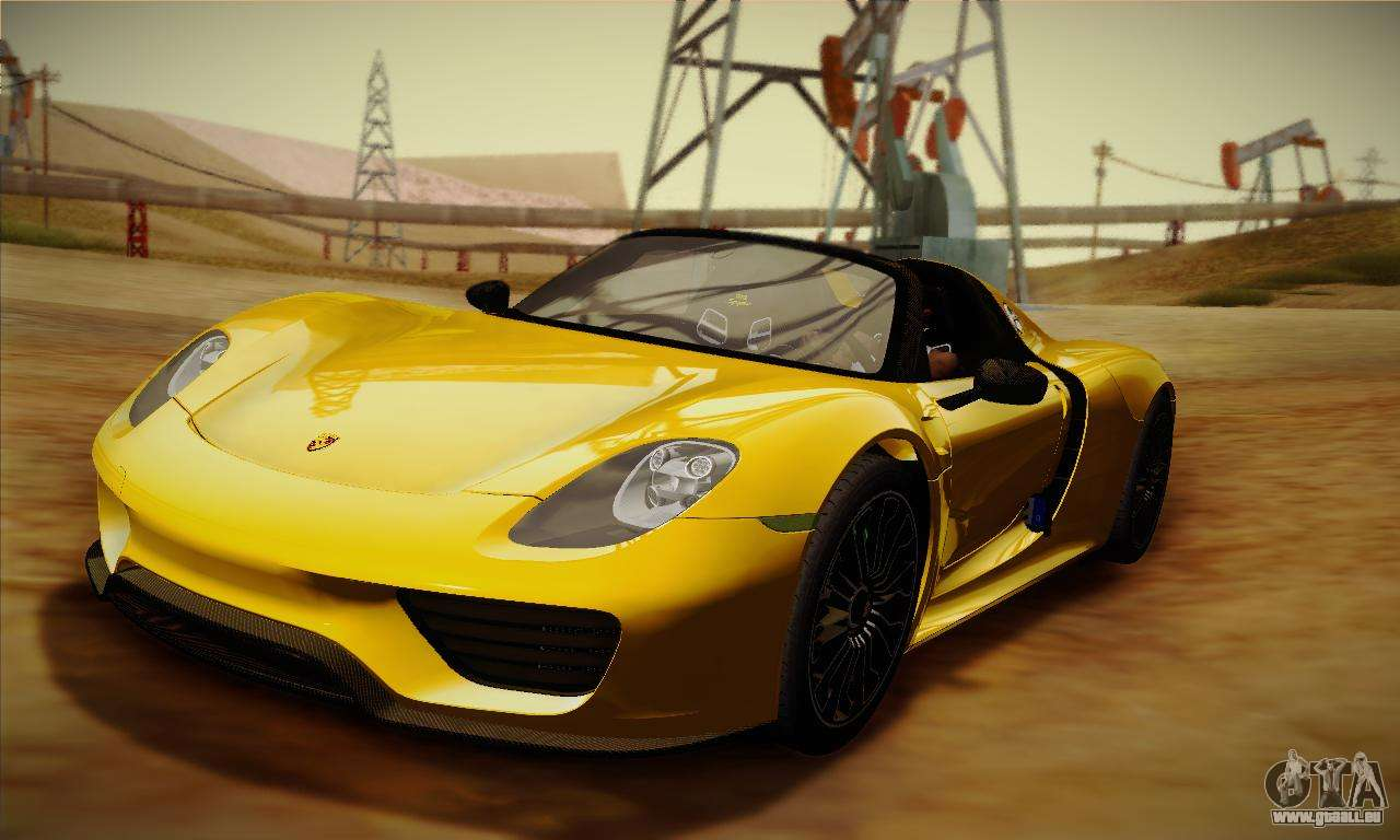 porsche 918 spyder 2014 pour gta san andreas. Black Bedroom Furniture Sets. Home Design Ideas