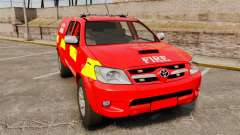Toyota Hilux London Fire Brigade [ELS] pour GTA 4