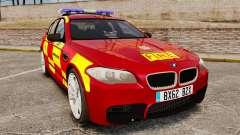 BMW M5 West Midlands Fire Service [ELS] für GTA 4