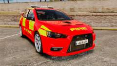 Mitsubishi Lancer Evo X Fire Department [ELS] für GTA 4