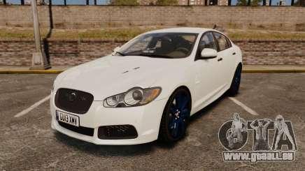 Jaguar XFR 2010 Police Unmarked [ELS] für GTA 4