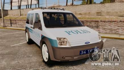 Ford Transit Connect Turkish Police [ELS] für GTA 4