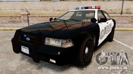 GTA V Vapid Steelport Police Cruiser [ELS] für GTA 4