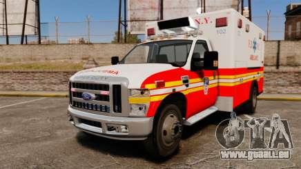Ford F-350 FDNY Ambulance [ELS] pour GTA 4