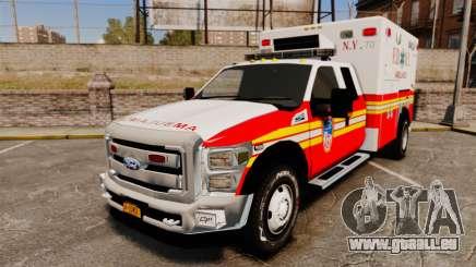 Ford F-350 2013 FDNY Ambulance [ELS] pour GTA 4