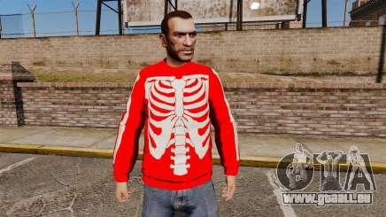 Chandail rouge-squelette - pour GTA 4