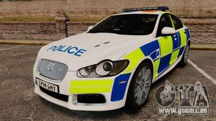 Jaguar XFR 2010 British Police [ELS] für GTA 4