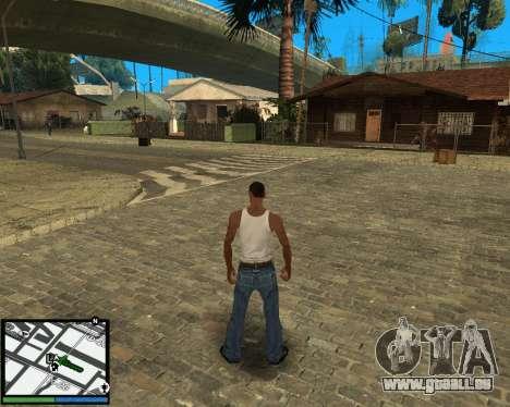 GTA V hud pour GTA San Andreas