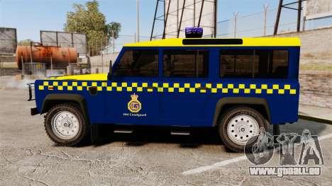 Land Rover Defender HM Coastguard [ELS] pour GTA 4 est une gauche