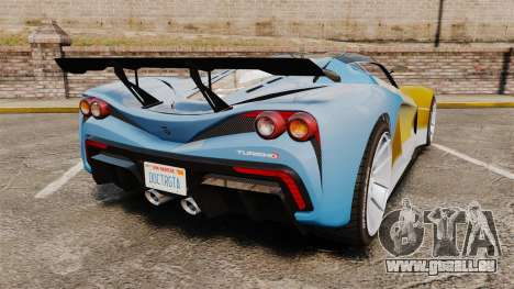 GTA V Grotti Turismo R für GTA 4 hinten links Ansicht