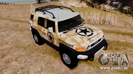 Toyota FJ Cruiser 2012 pour GTA 4 est un côté