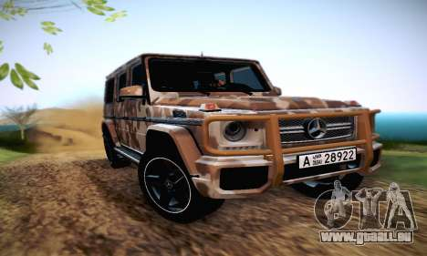 Mercedes Benz G65 Army Style pour GTA San Andreas