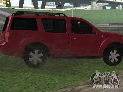 Nissan Pathfinder pour GTA San Andreas vue de droite