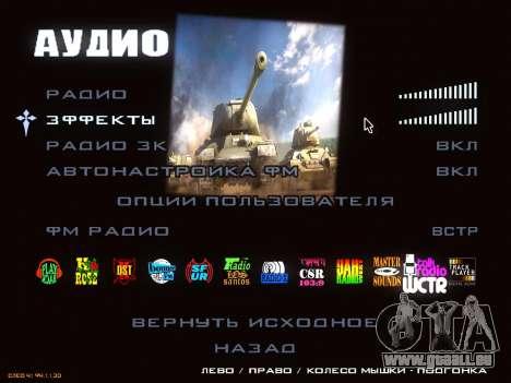 Menu de World of Tanks pour GTA San Andreas sixième écran