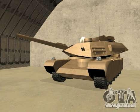 Rhino Mark.VI pour GTA San Andreas vue intérieure