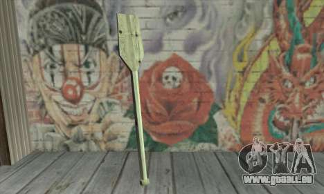 The wooden paddle für GTA San Andreas