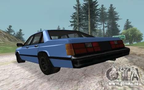 Premier VC pour GTA San Andreas sur la vue arrière gauche