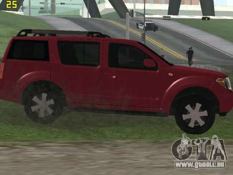 Nissan Pathfinder pour GTA San Andreas vue arrière