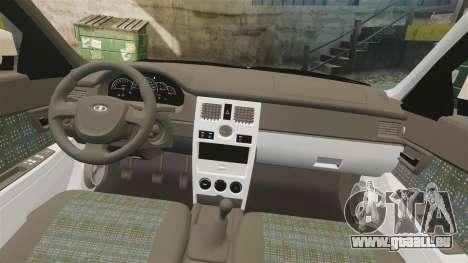 ВАЗ-2170 Installé Avant pour GTA 4 vue de dessus