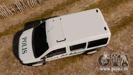 Ford Transit Connect Turkish Police [ELS] v2.0 für GTA 4 rechte Ansicht