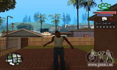 C-HUD Gangster by NickQuest pour GTA San Andreas troisième écran