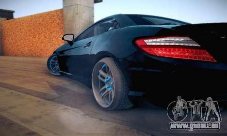 Mercedes Benz SLK55 AMG 2011 für GTA San Andreas Seitenansicht