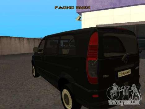 Mercedes-Benz Vito pour GTA San Andreas vue de droite