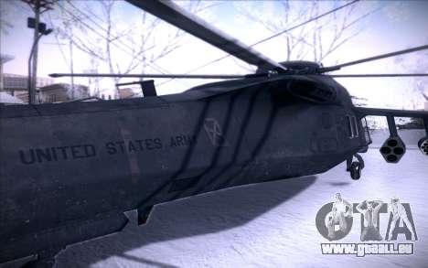 MH-X Silenthawk pour GTA San Andreas vue arrière